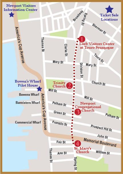 Four Faiths Walking Tour Map